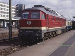 ex DR class 234 at Braunschweig on a Berlin - Basle train