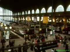 Domestic side of Paris gare du Nord