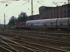 ex DR double deck train at Magdeburg